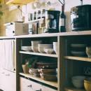 音楽と料理が楽しめる家の写真 キッチン収納