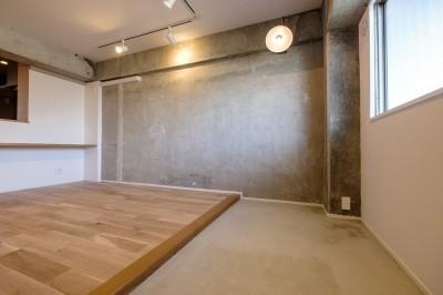 ヴィンテージ+和モダンをとり入れた、心おちつく空間 (土間&フリースペース)
