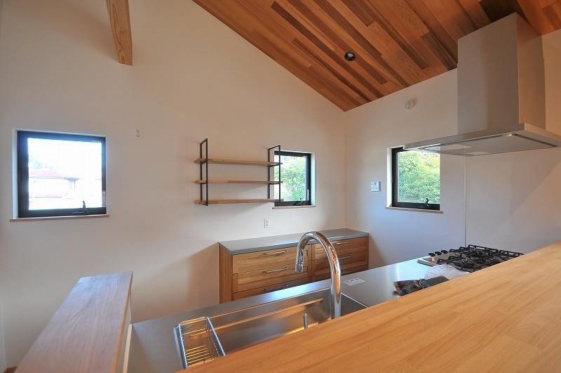 リビングダイニング事例:キッチン(チルルームでまったりできる葉山の家)