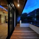 チルルームでまったりできる葉山の家の写真 バルコニー