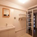 東大路高野第三住宅リペア|京都の団地を好みに合わせて団地らしく仕立て直すの写真 洗面脱衣室