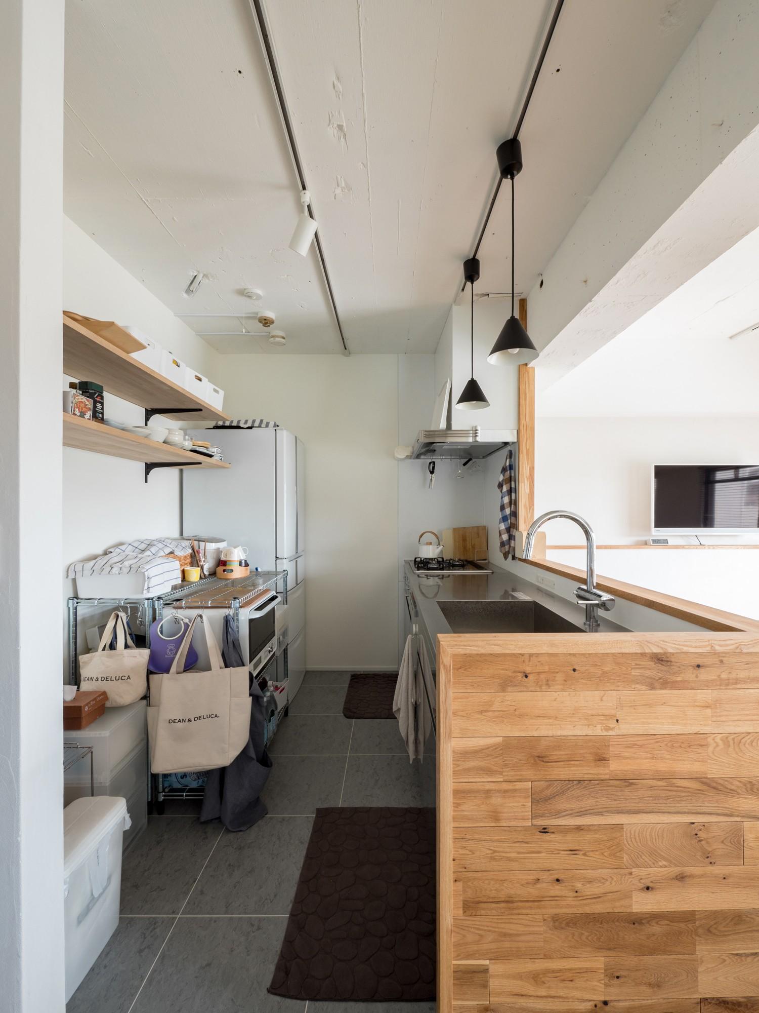 キッチン事例:フレキシブルスタイルのキッチン(素因数の家 すくすくリノベーションvol.11)