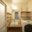 素因数の家 すくすくリノベーションvol.11の写真 シンプルな構成の洗面台周り