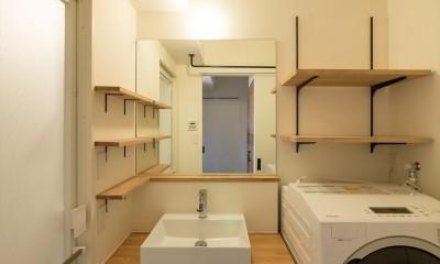 素因数の家 すくすくリノベーションvol.11 (シンプルな構成の洗面台周り)