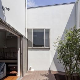 スロープの家・卍(愛犬家住宅・愛猫家住宅) (中庭)
