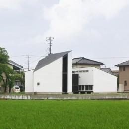 山梨の平屋の家 (ミニマルな外観)