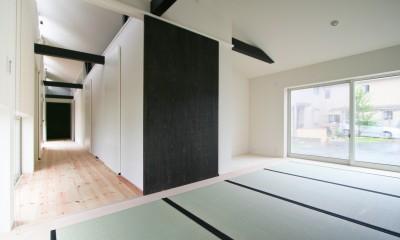 山梨の平屋の家 (和室)