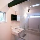 山梨の平屋の家の写真 浴室