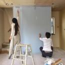 無垢材と色にこだわった家の写真 DIY