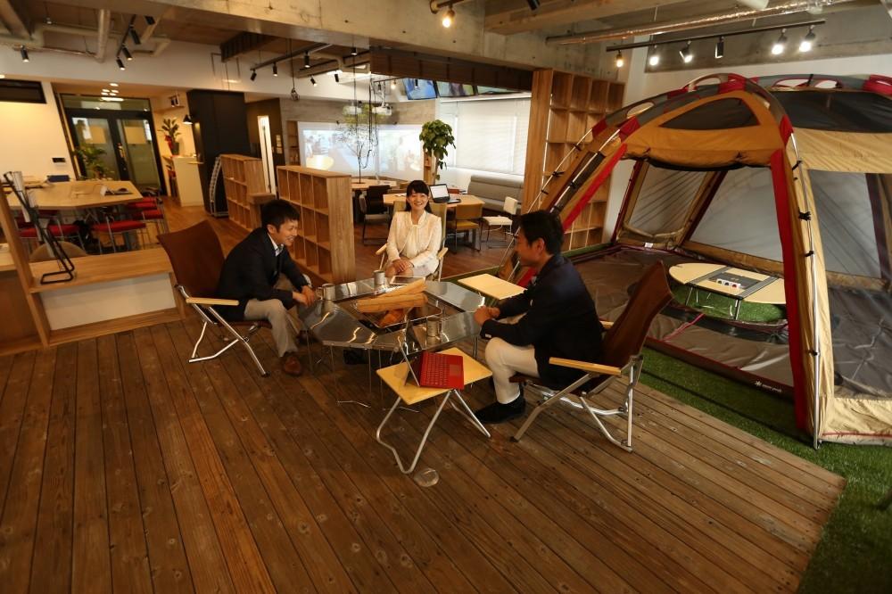 名古屋市東区オフィス (アウトドアミーティング)