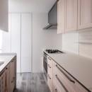 望楼の家 すくすくリノベーションvol.10の写真 キッチン廻りのスマート動線