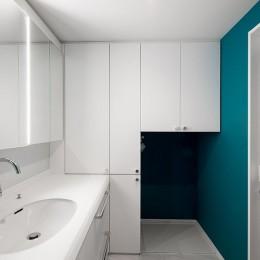 望楼の家 すくすくリノベーションvol.10 (合理的に収納を計算した洗面廻り)