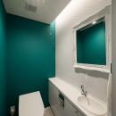 望楼の家 すくすくリノベーションvol.10の写真 趣のあるタイルのトイレ