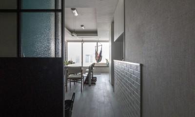 望楼の家 すくすくリノベーションvol.10 (エントランスからみたダイニング)