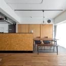 ラフなヴィンテージを楽しむの写真 リビングキッチン