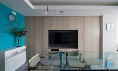 望楼の家 すくすくリノベーションvol.10 (隠し扉となっているテレビボード)