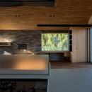 北林泉の家の写真 対面キッチンからの眺め
