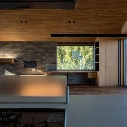 北林泉の家 (対面キッチンからの眺め)