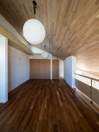 書斎の入口の構成 (北林泉の家)