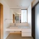 北林泉の家の写真 造り付けの洗面化粧台
