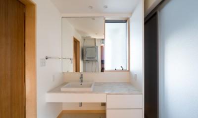 北林泉の家 (造り付けの洗面化粧台)