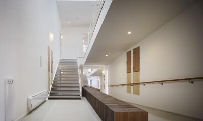 岩手の高齢者共同住宅 オークフィールド八幡平 (階段)
