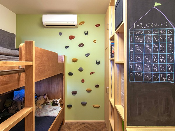 DK STYLE すくすくリノベーションvol.7 (子供室の黒板壁とボルダリング壁)