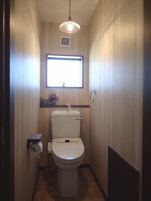 リビングダイニング事例:トイレ(落ち着きのあるレトロモダン)
