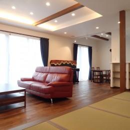 高級感漂う大空間でゆったり過ごす家