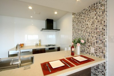 キッチン (築35年のマンションをセカンドハウスに全面リフォーム)