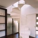 (西東京市)ひばりが丘の木造3階建ての家の写真 2階から3階への鉄骨らせん階段