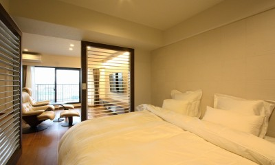 ベッドルーム|築35年のマンションをセカンドハウスに全面リフォーム