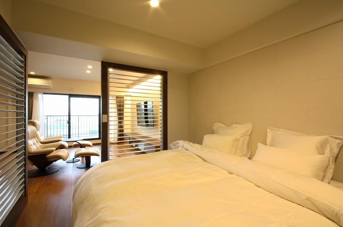 ベッドルーム事例:ベッドルーム(築35年のマンションをセカンドハウスに全面リフォーム)