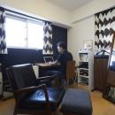 A邸-こだわりの収納と、家族それぞれの空間つくりの写真 夫の書斎