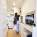 A邸-こだわりの収納と、家族それぞれの空間つくりの写真 キッチン