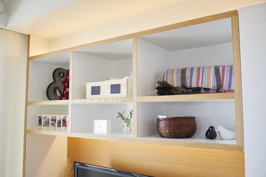 A邸-こだわりの収納と、家族それぞれの空間つくり (造作棚)