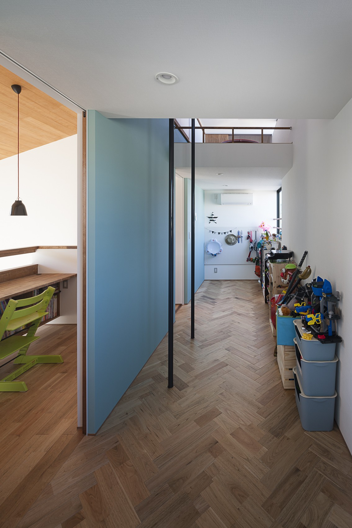 子供部屋事例:子供部屋の楽しい設え(縁の繋がる家)