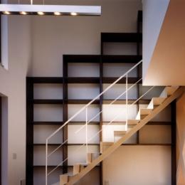 (西東京市)ひばりが丘の木造3階建ての家 (吹き抜けを設けて1階と2階(子供部屋)をつなげる)