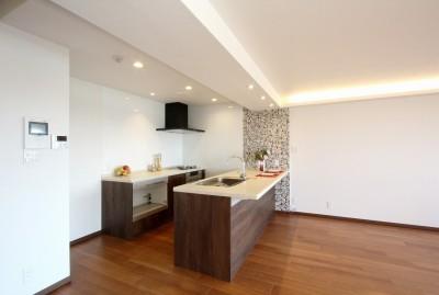 築35年のマンションをセカンドハウスに全面リフォーム (キッチン)