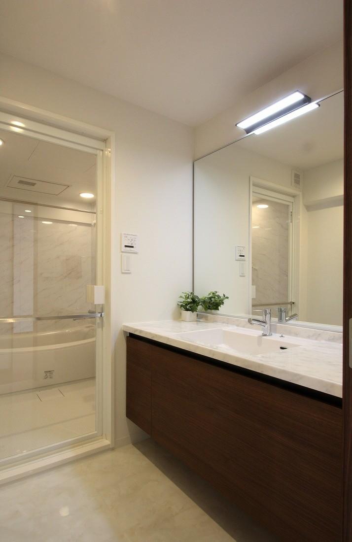 バス/トイレ事例:洗面(築35年のマンションをセカンドハウスに全面リフォーム)