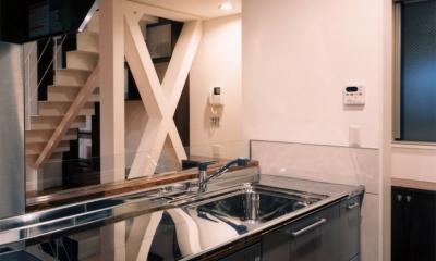 (西東京市)ひばりが丘の木造3階建ての家 (対面キッチン)