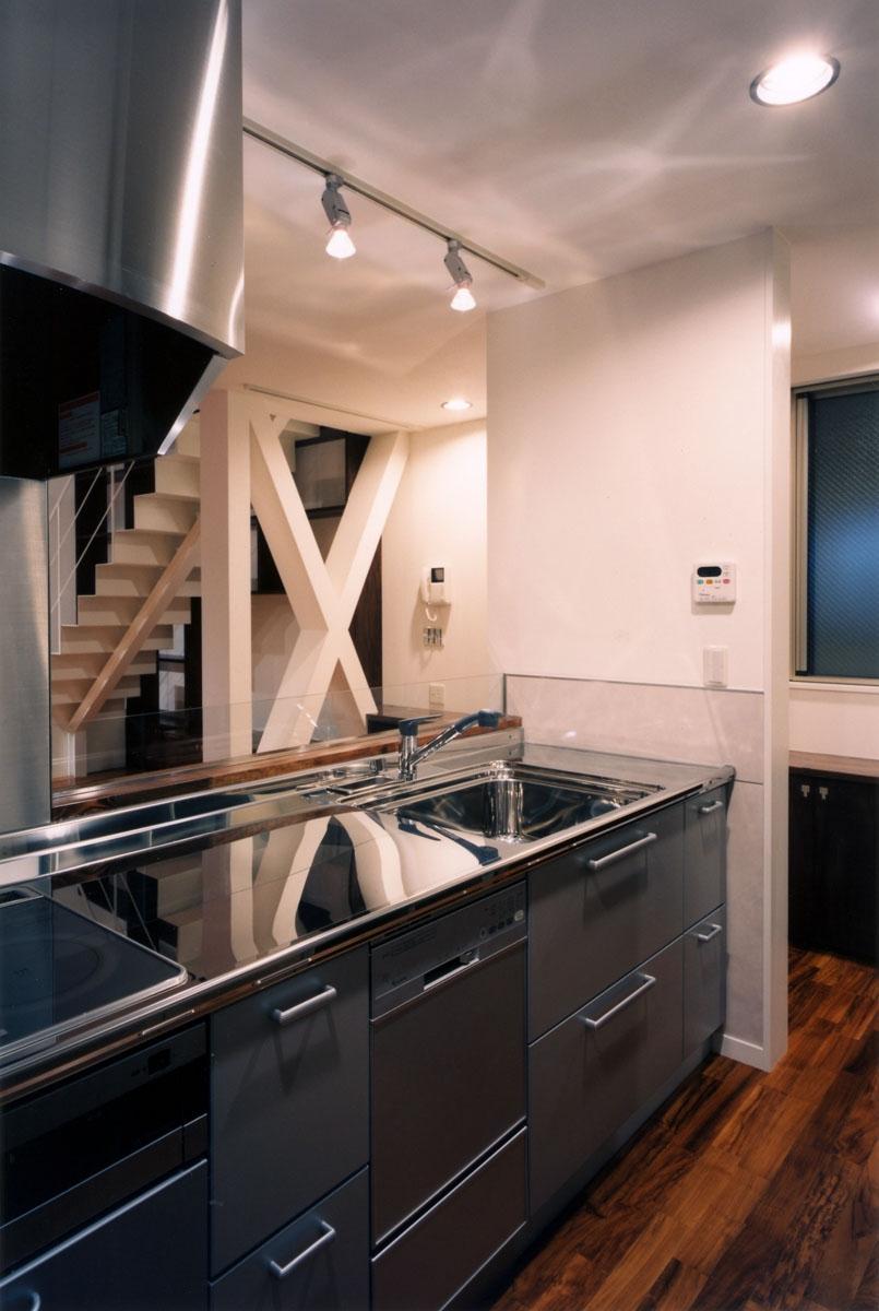 (西東京市)ひばりが丘の木造3階建ての家の写真 対面キッチン