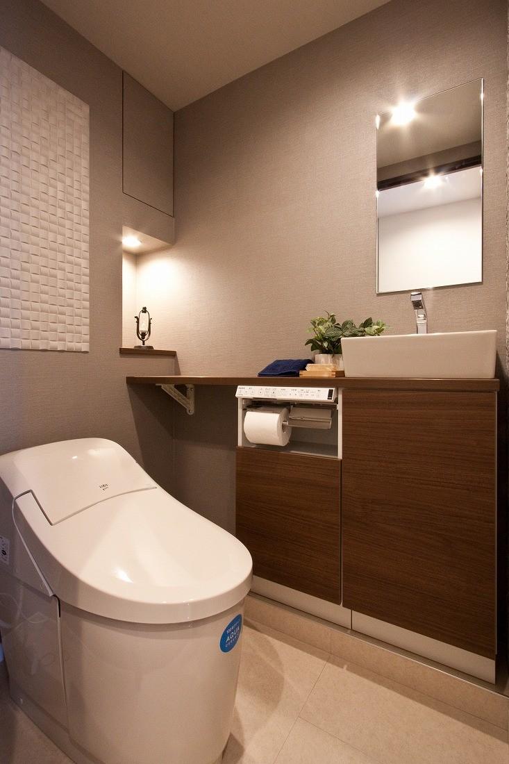 バス/トイレ事例:トイレ(銀婚式の記念に)