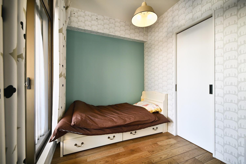 子供部屋事例:子ども部屋(ひろがる眺望を存分に楽しむ)