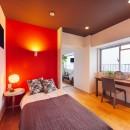 感性豊かなおとな女子がつくる、景色と暮らす家の写真 ベッドスペース