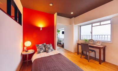 ベッドスペース|感性豊かなおとな女子がつくる、景色と暮らす家