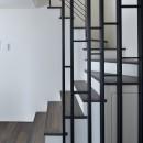 寿都湾を臨む家の写真 階段