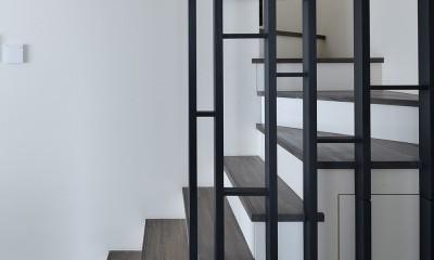 寿都湾を臨む家 (階段)