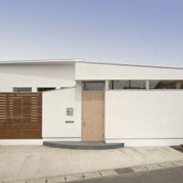 我孫子のコートハウス/平屋の家 (玄関回り外観)