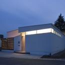 米村和夫の住宅事例「我孫子のコートハウス/平屋の家」